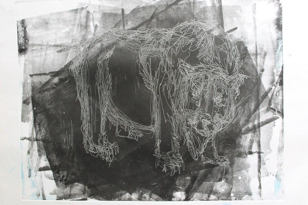 bear monoprint 4