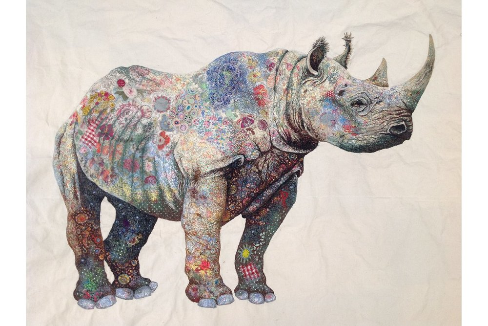 Black Rhino © Sophie Standing sophiestandingart.com