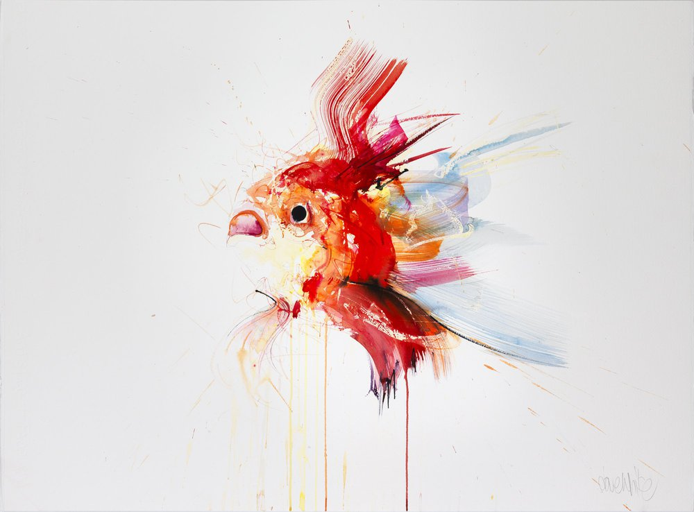Goldfish I  © Dave White  davewhiteart.com