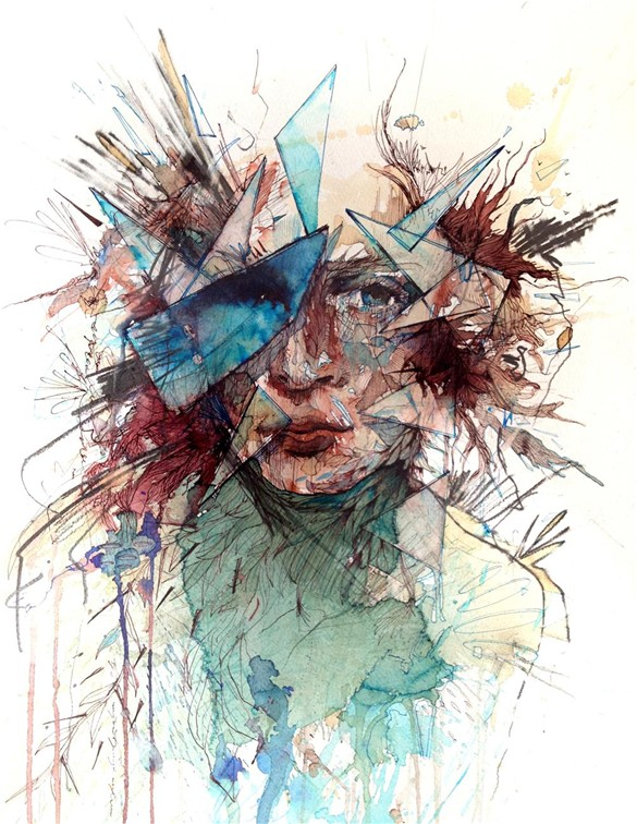 Breaking Through © Carne Griffiths carnegriffiths.com