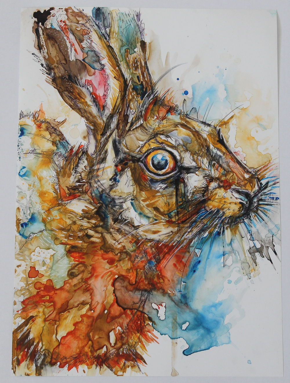 Yupo Watercolour Hare