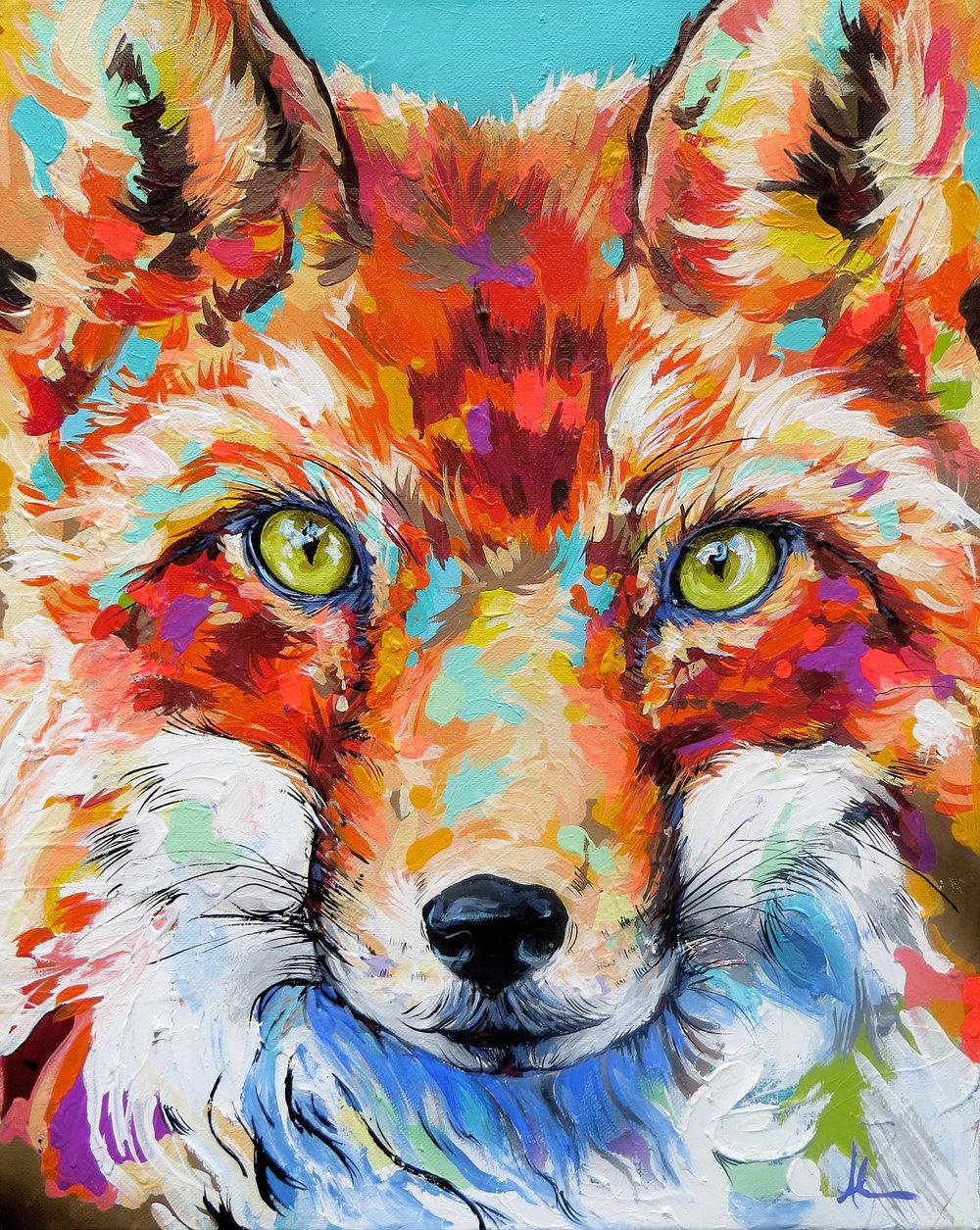 Fox  © Andrea Mueller  andrealikesart.com
