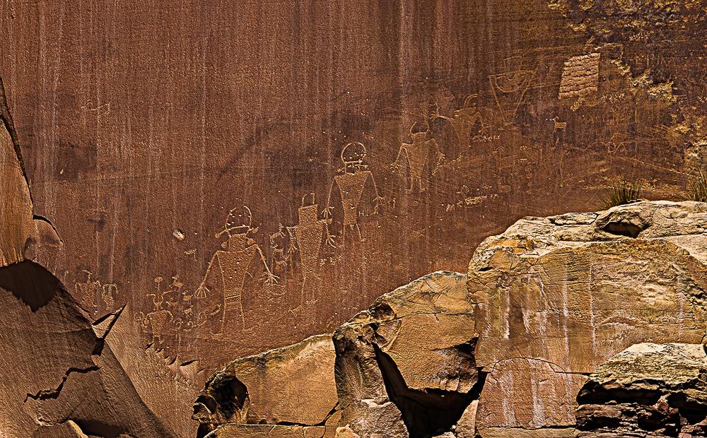 Petroglyphs, Capitol Reef Nat Park - 1