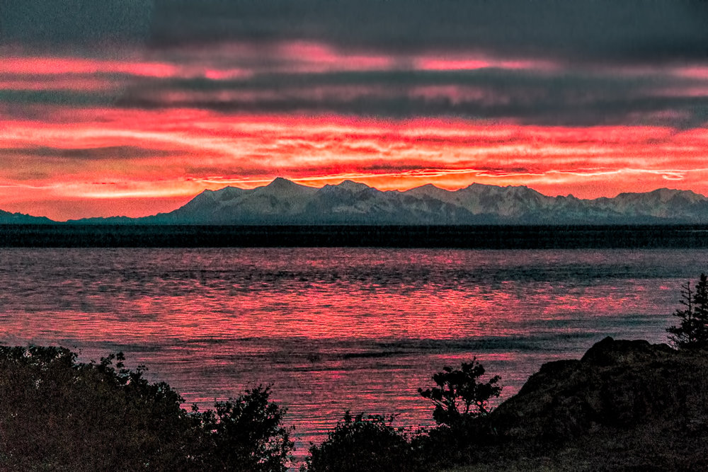 Sunset over Turnagain Arm