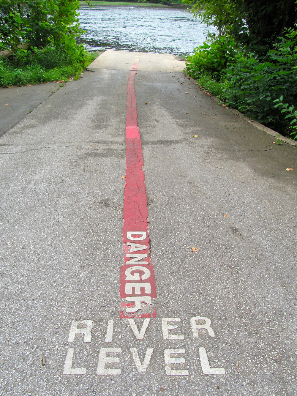 Potomac River gauge at Taylor's Landing Photo: Alan Leslie, University of Maryland
