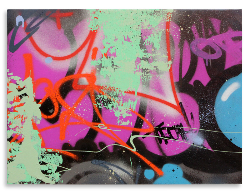 "Detroit Truth Aerosol on Wood 24"" x 18"" $750 Also Available on 1xRUN"