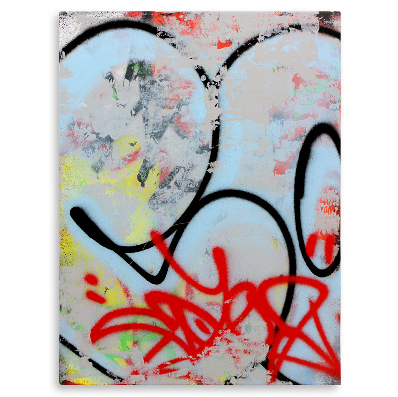 "Detroit Series 10 Aerosol on Wood 18"" x 24"" $750"