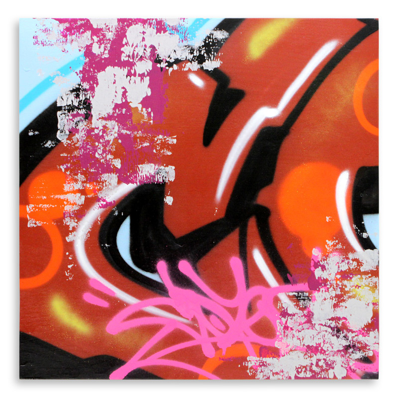 "Detroit Series 15 Aerosol on Wood 24"" x 24"" $850"