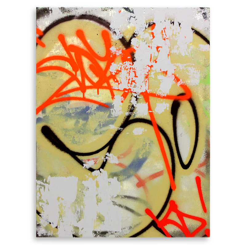 "Detroit Series 9 Aerosol on Wood 18"" x 24"" $750"