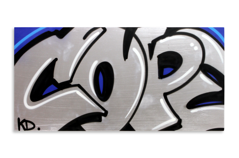 "Detroit Series 6 Aerosol on Wood 48"" x 24"" $1,500 Also Available on 1xRUN"