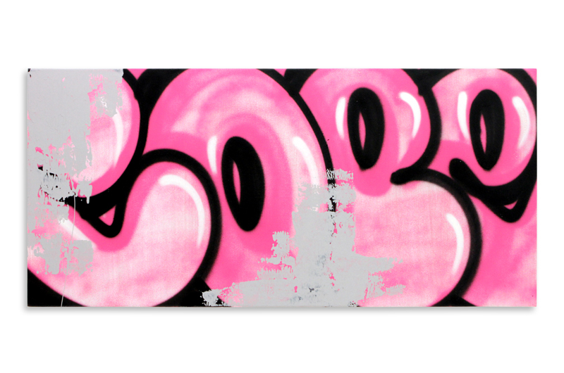 "Detroit Series 21 Aerosol on Wood 34"" x 16"" $850"