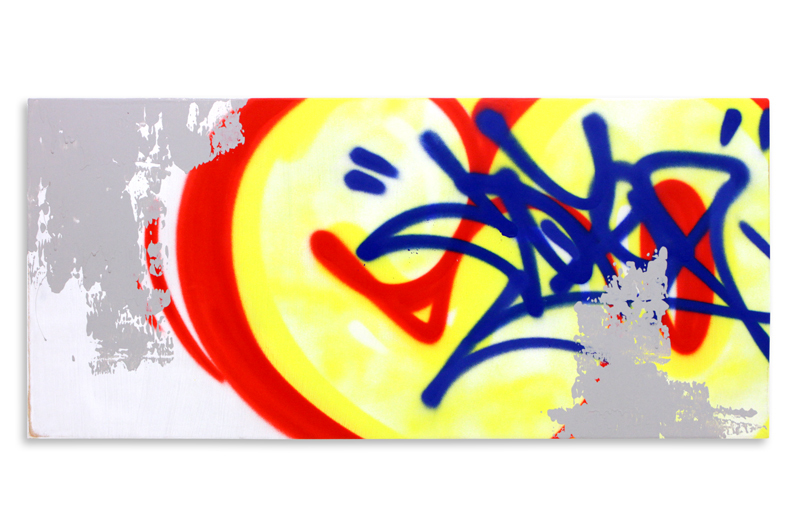 "Detroit Series 22 Aerosol on Wood 34"" x 16"" $850"