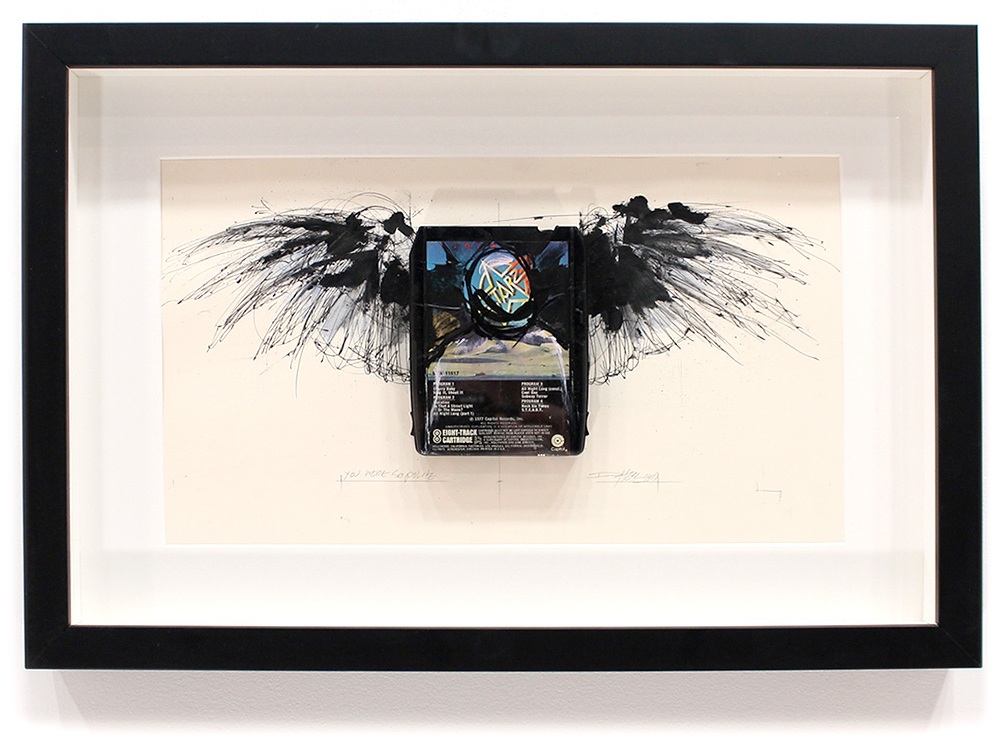 "You Were So Polite - Starz 'Violation'  8-Track, Archival Paper Framed in Shadow Box 22"" x 14.5"" Framed in Shadowbox  SOLD"
