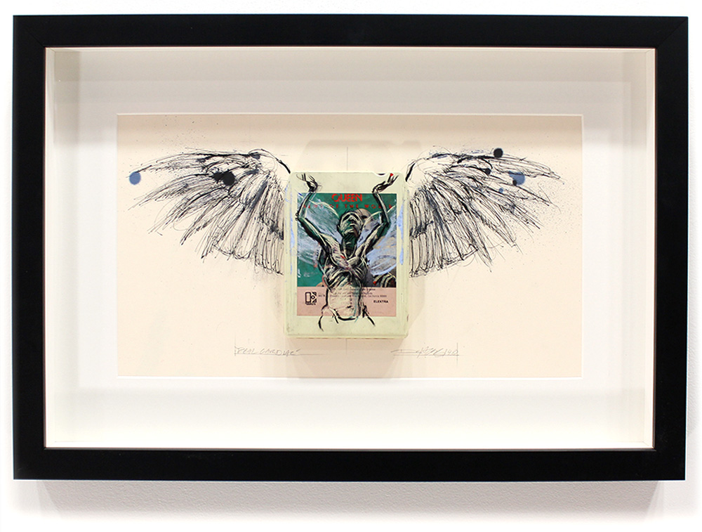 "Real Cardiac - Queen 'News of the World'  8-Track, Archival Paper Framed in Shadow Box 22"" x 14.5"" Framed in Shadowbox  SOLD"