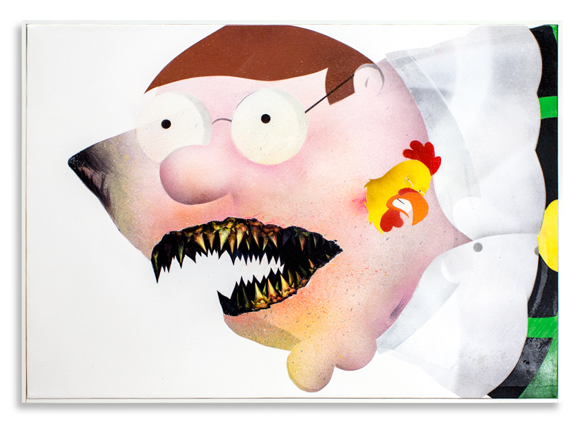 "Cici Nestpas Une Peter Griffin Acrylic on Canvas 27"" x 19"" $1,400 Click Here to Purchase"