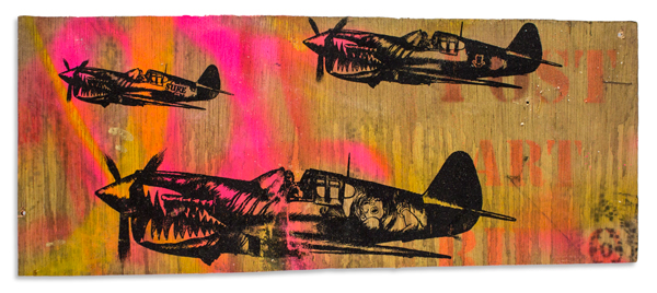 "Post Art Bills Aerosol & Acrylic on Reclaimed Wood 20.5"" x 8.75"" $300 Click Here to Purchase"