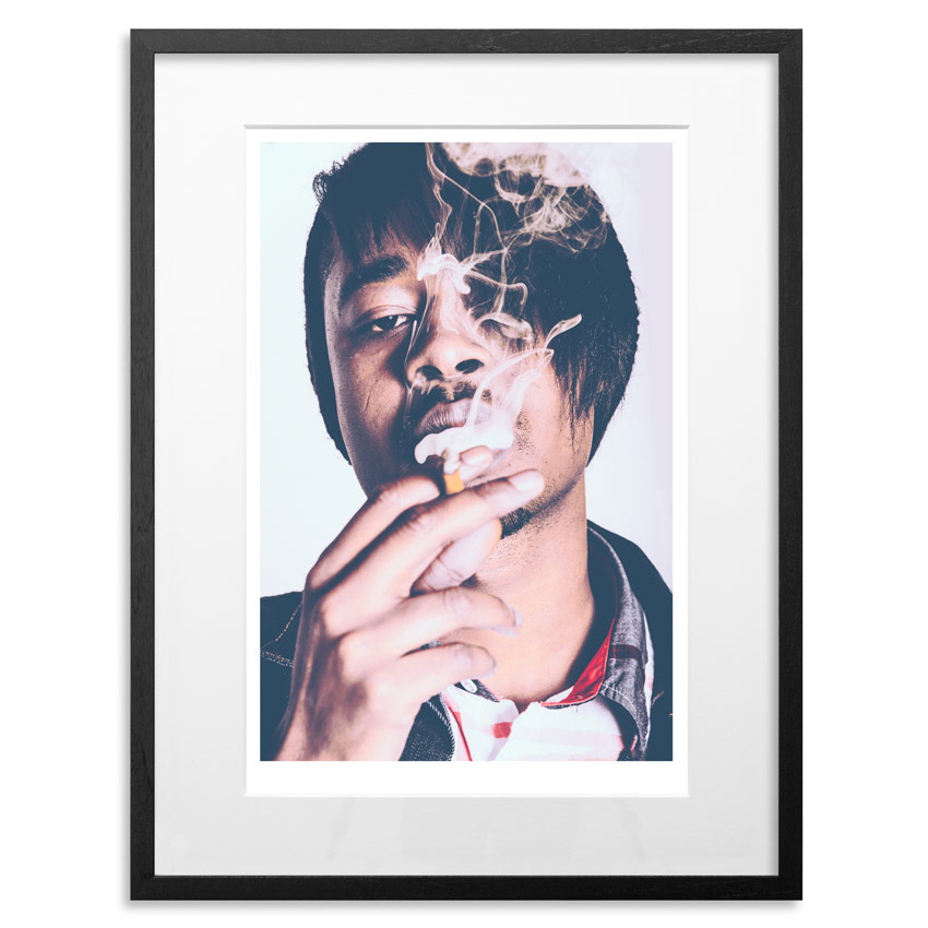 "Danny Brown - Adderall Admiral   Archival Pigment Print on 300gsm Museum Grade 100% Cotton Rag   24"" x 18"" - Edition 21 -    Purchase    66"" x 44"" - Edition 10 -    Purchase"