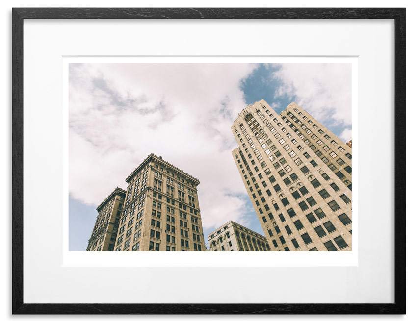 "Detroit - Twin Towers   Archival Pigment Print on 300gsm Museum Grade 100% Cotton Rag   24"" x 18"" - Edition 21 -    Purchase    66"" x 44"" - Edition 10 -    Purchase"