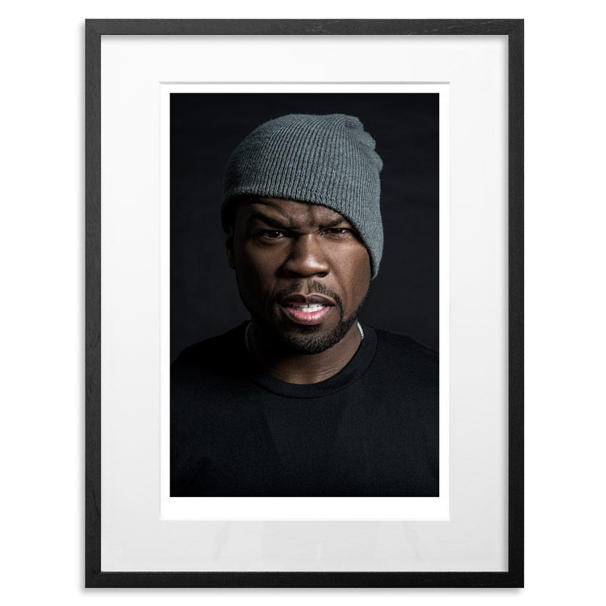 "50 Cent - Gangster Grin   Archival Pigment Print on 300gsm Museum Grade 100% Cotton Rag   24"" x 18"" - Edition 21  - Sold Out   66"" x 44"" - Edition 10 -   Sold Out"