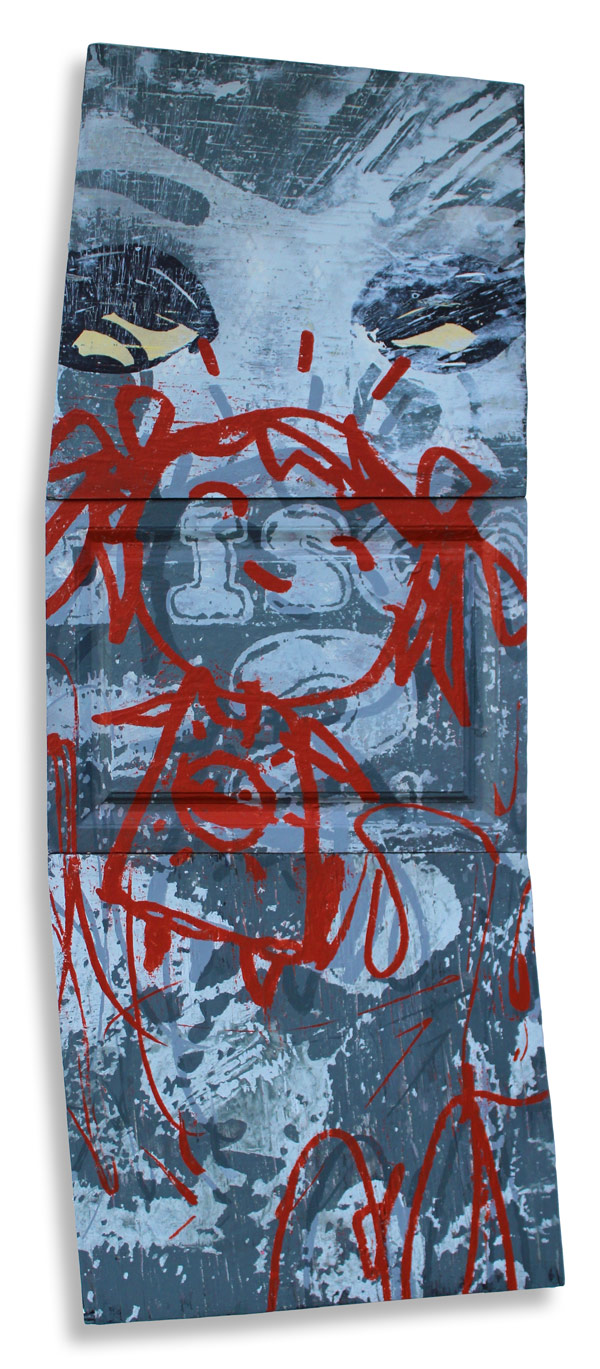 Disco  20 x 62 Inches Mixed Media on Wood Panel  $2,500