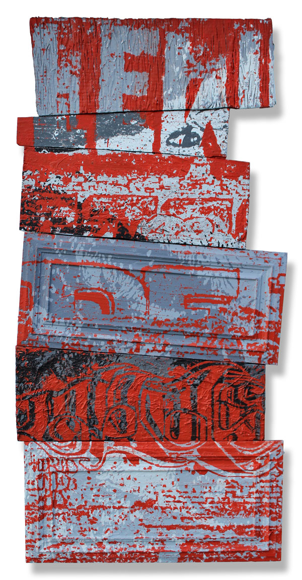 Lew  28 x 62 Inches Mixed Media on Wood Panel $ 2,500
