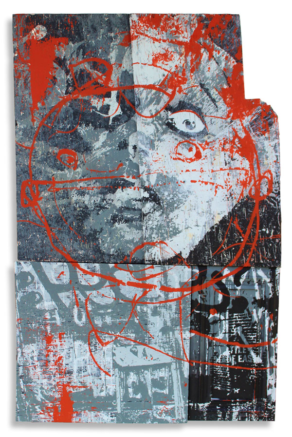 The One You Feed  36 x 62 Inches Mixed Media on Wood Panel $4000