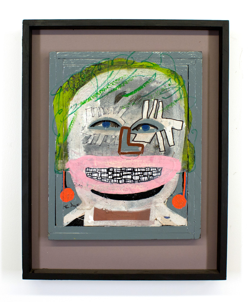 Tyree Guyton Katie -1996  Mixed Media on Reclaimed Wood Panel  30 x 23 x 3 inches  $6,000.00
