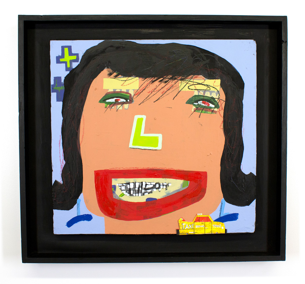 Tyree Guyton Goin to Heidelberg - 1998  Mixed Media on Reclaimed Wood Panel  33 x 35.5 x 3 Inches $7,500.00