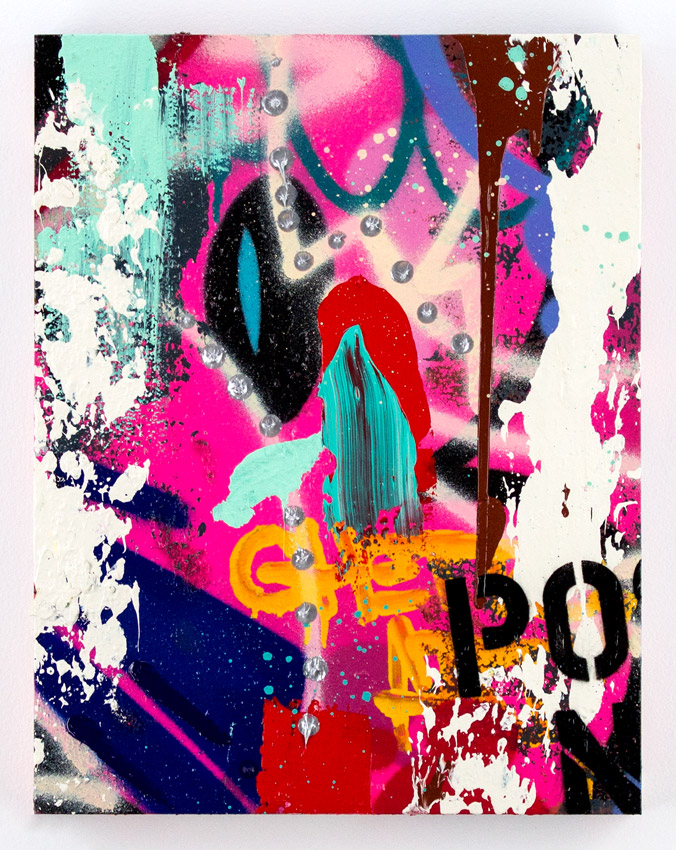 Cope2 Consistency - 1/5 Series Of 5 Original Paintings 18 x 14 x 1.75 inches -  Mixed Media on Cradled Wood Panel
