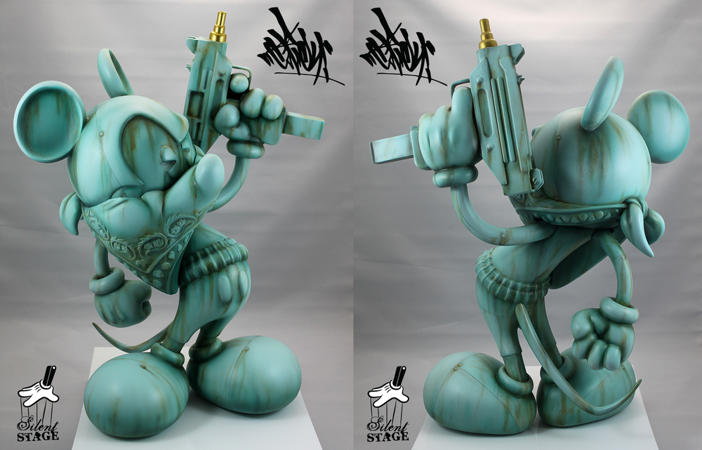 "OG Slick Uzi Does It - ""Liberty Or Death""  16.5 inches Tall - Edition of 5 - Hand Casted in High Impact Resin, Hand Finished & Assembled from 13 Individual Pieces Produced by  Click here for additional info"