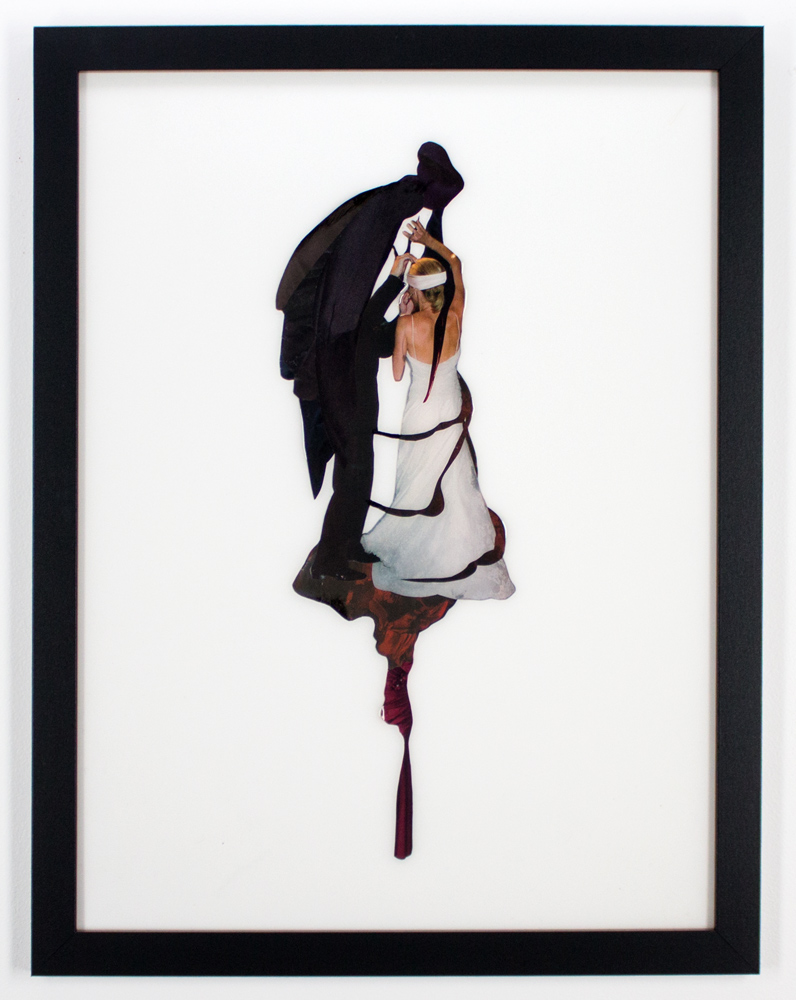 "Sienna Freeman Bride to Be 2. 20"" x 26"" Found Images, Plastic Resin Framed $600"