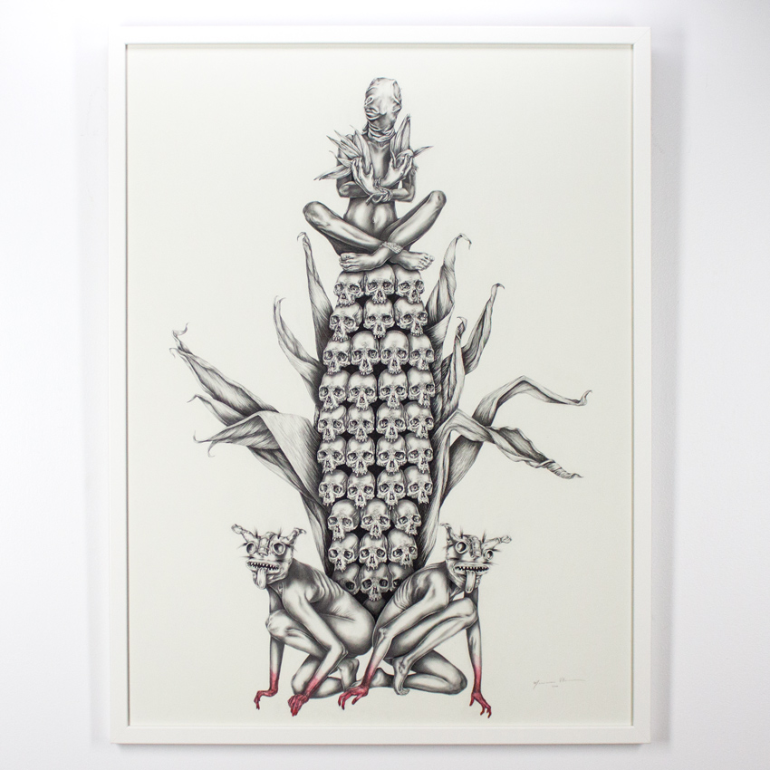 Mariana    Villanueva   Centéotl   Graphite on cotton paper  102 x 76   cm // 40 x 30 inches   SOLD