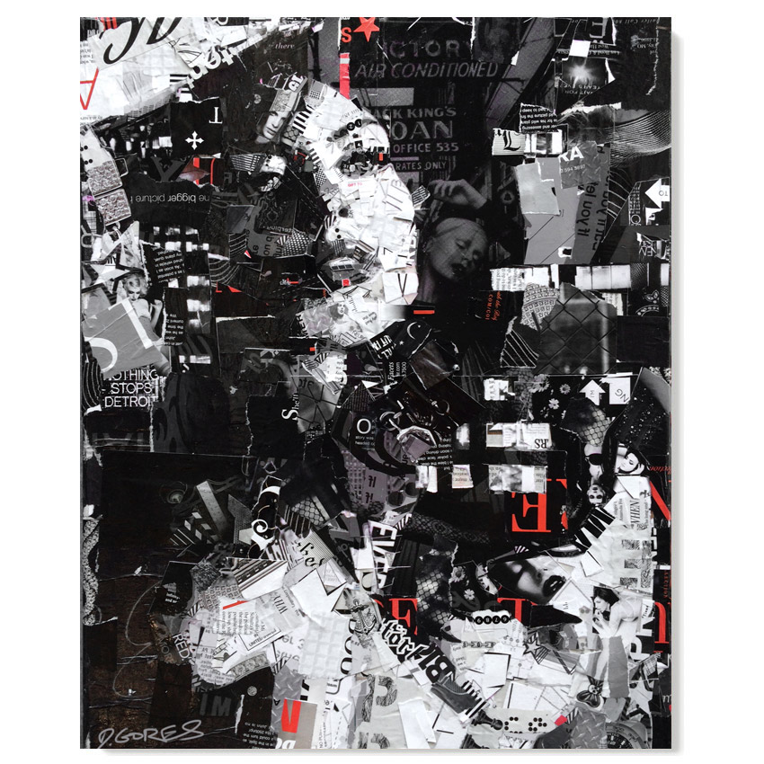 Derek Gores Voodoo Victory 16 x 20 Inches Collage on canvas $1,800