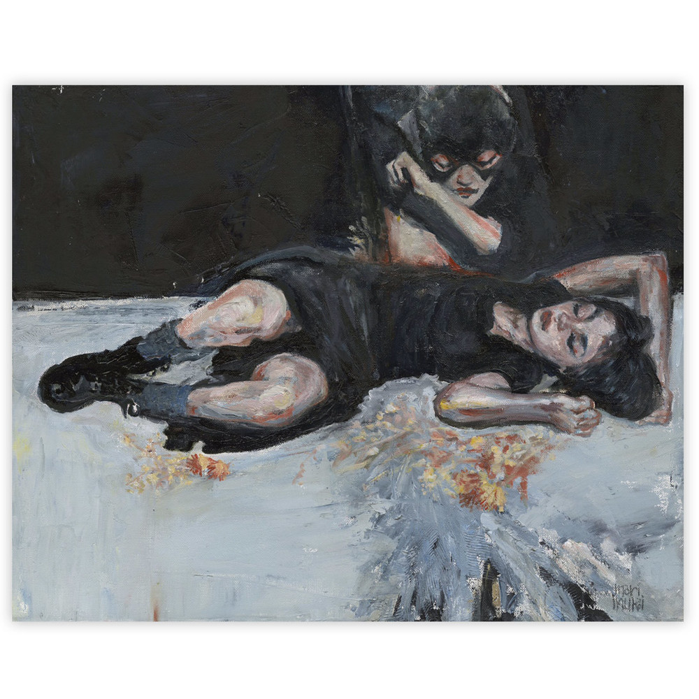 Mari Inukai Fallen Angel 16 x 20 Inches Oil on canvas $1,900