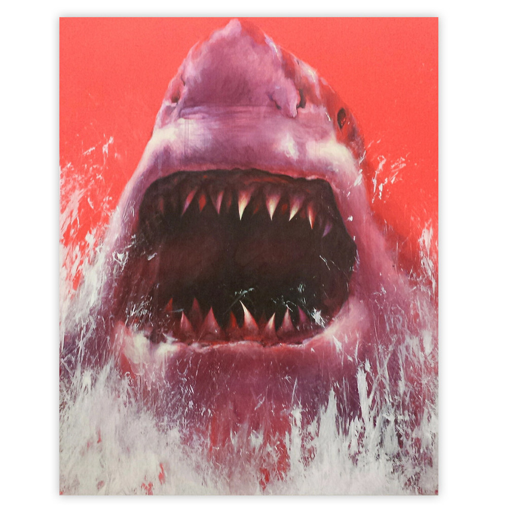 Shark Toof Nature Is Your Home 16 x 20 INCHES Acrylic And Spraypaint On Cradled Wood Panel SOLD