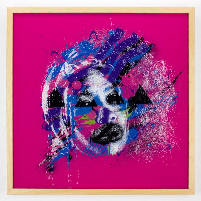 "36. Askew Stelly August 24"" x 24"" Waterborne Enamel & Acrylic on Plexiglass SOLD"