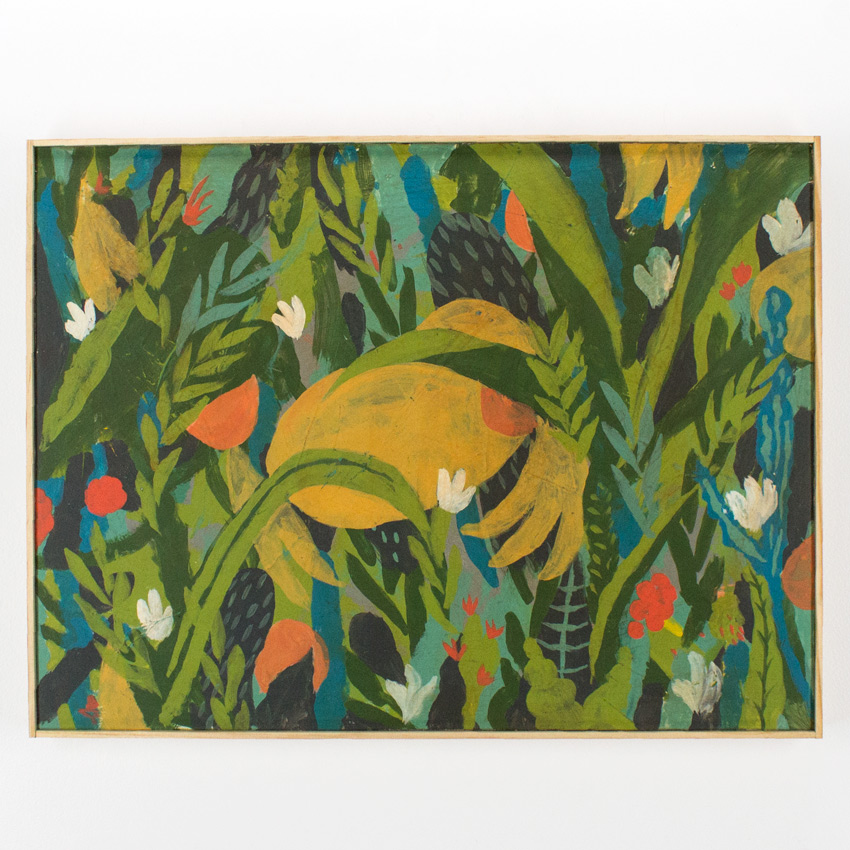 "47. Eugene Carland Jungle Study 18""x24 $1,000 -  Inquire  - Purchase directly on 1xRUN"