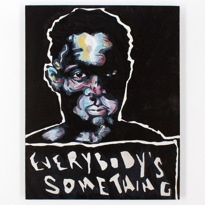 52. Marlo Broughton Everybody's Something 16x20 Acrylic and Ink $250 -  Inquire  - Purchase directly on 1xRUN
