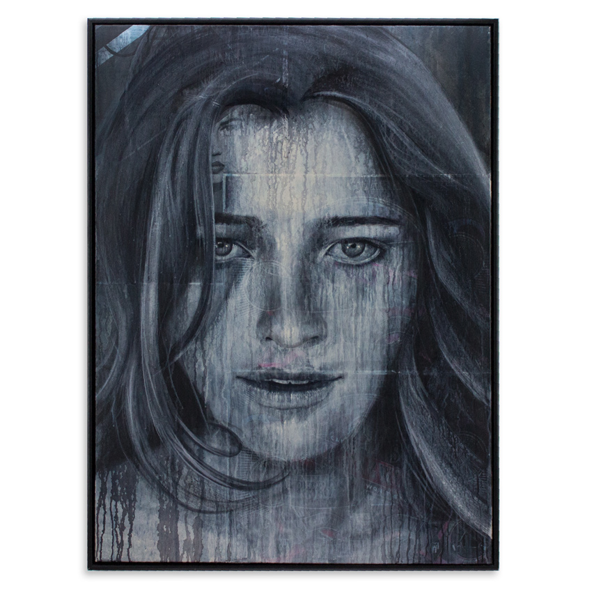 21. Rone Don't Over Think it 36x48 Mixed media on canvas $3,500 -  Inquire  - Purchase directly on 1xRUN