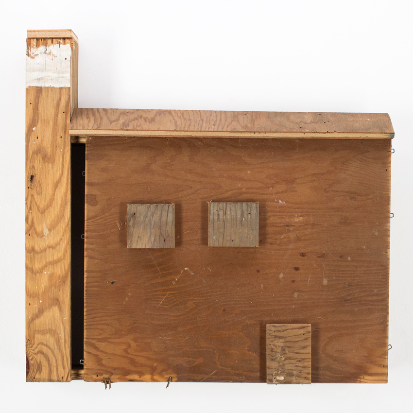 68. Zak Meers Foreclosed Home 18x16.5 scrapped wood $500 -  Inquire  - Purchase directly on 1xRUN