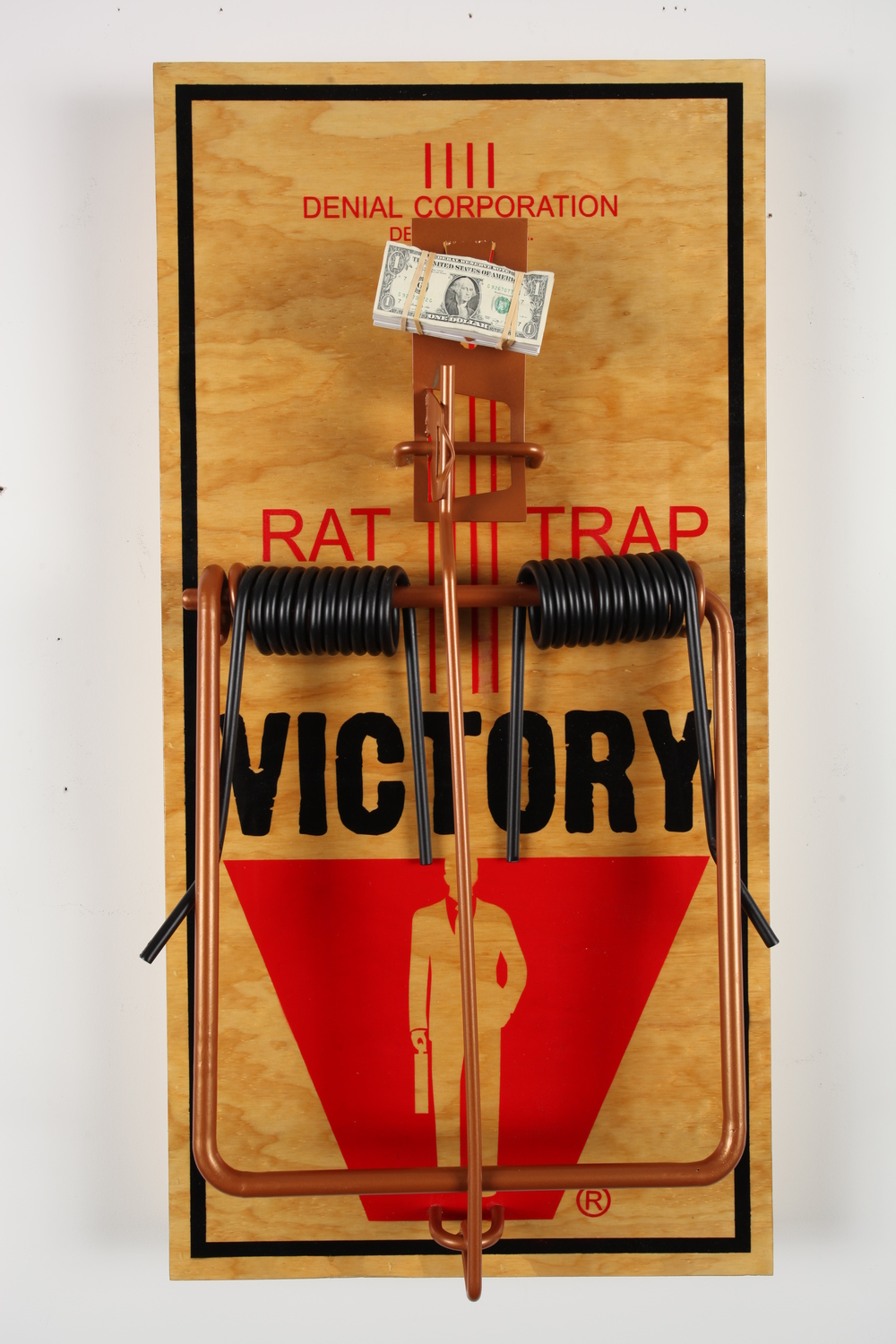 "Master Bait 24"" x 48"" x 8 Inch Sculpted Metal Over Aerosol Stencil on Cradled Wood Panel $2500"