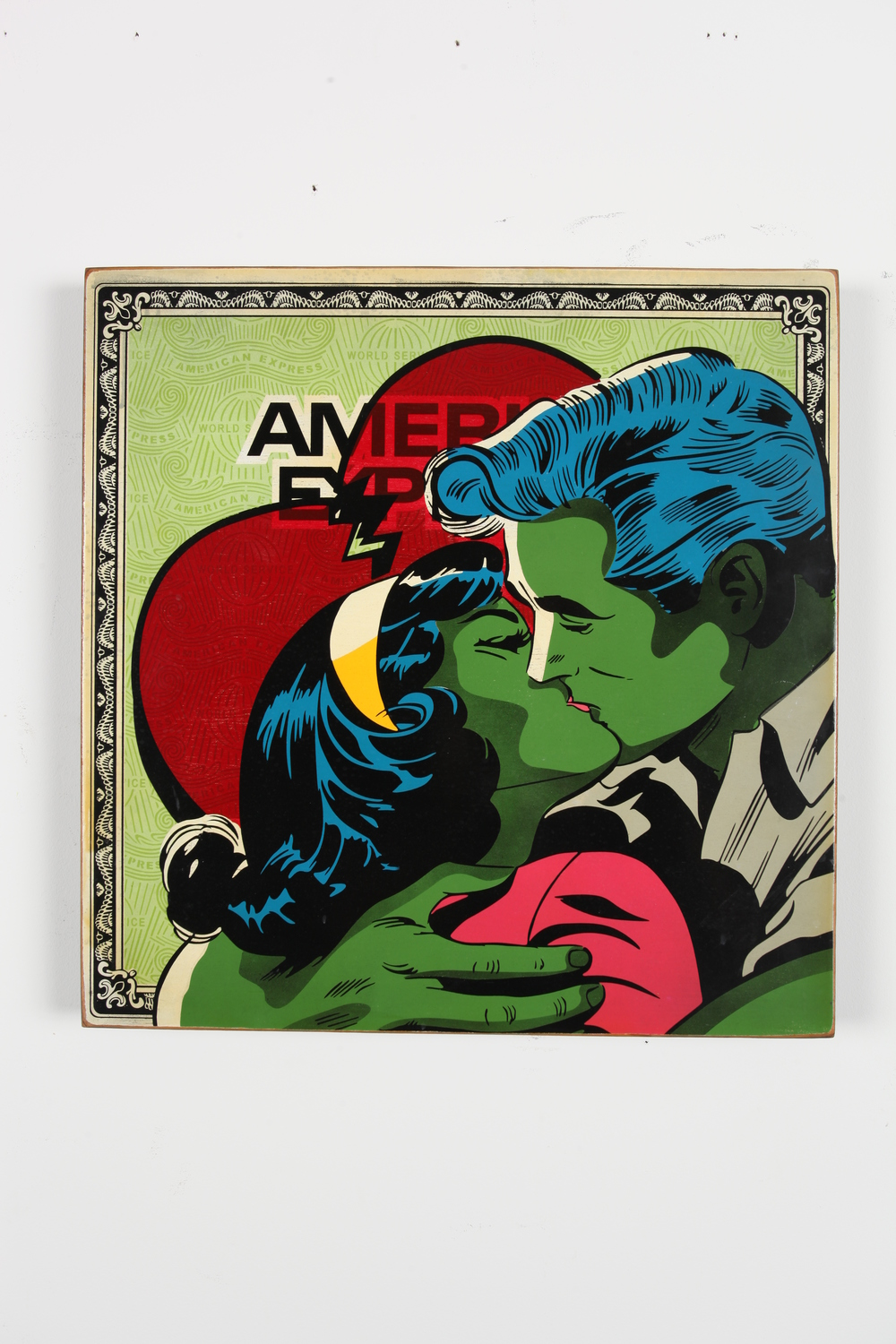 "American Expression  24"" x 24"" x 2"" Inch  Aerosol on Framed Birch Wood Panel Edition of 5 $750"