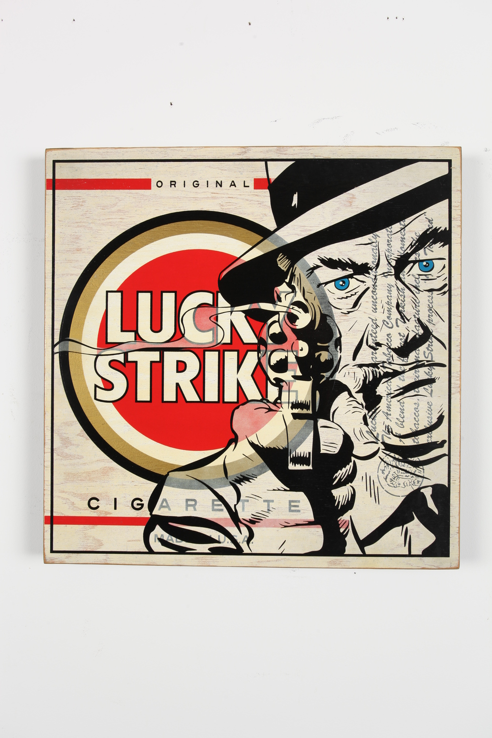 "Lucky Strike     24"" x 24"" x 2""   Aerosol on Framed Birch Wood Panel   Edition of 10 $750"
