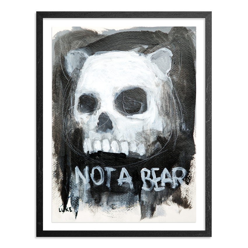 Character Study - Skull 9 x 12 Inch Acrylic & Graphite on 140lb Watercolor Pape Float mounted on acid free backing in a 1 inch black wood frame & UV glass $1200