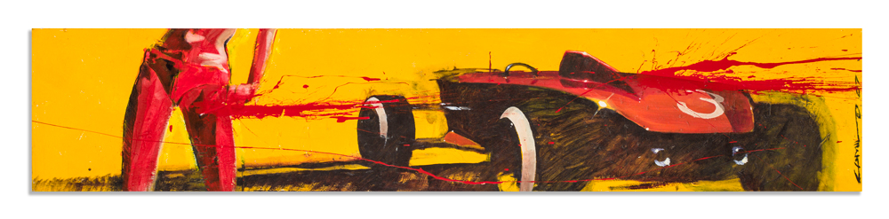 "Rat Rod Roxy 72"" x 14.5"" x 4"" Acrylic on Canvas $5,800"