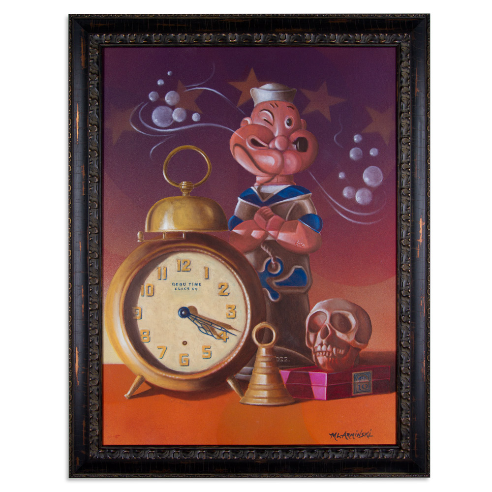 "Good Time Clock Co.  22"" x 24"" Aqua-Oil $3,500"