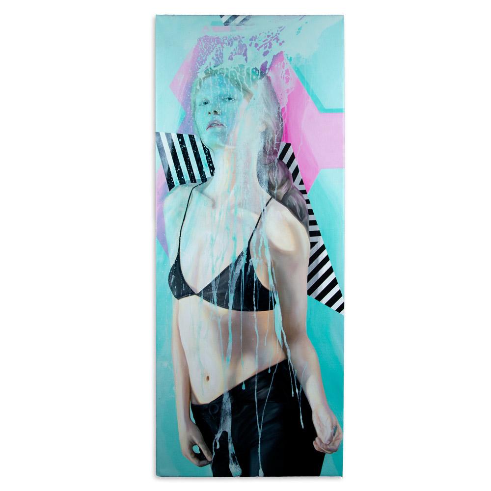 """Splash 28"""" x 68"""" Oil on Canvas $2,000"""