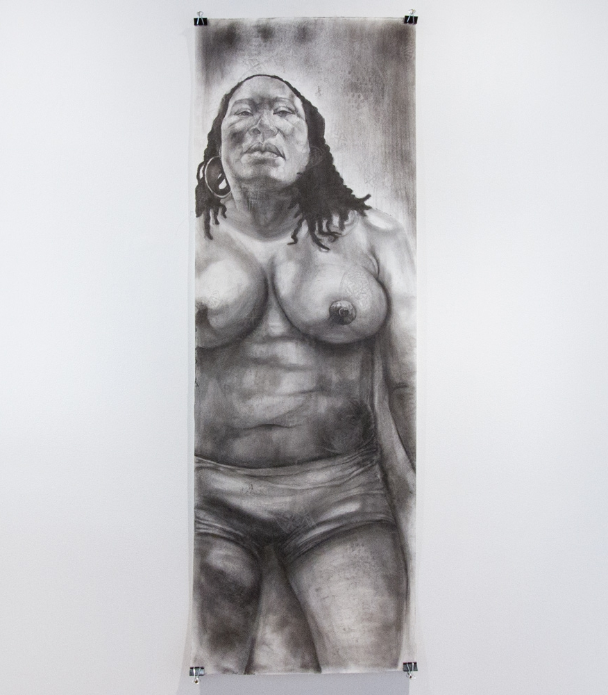 "She 21"" x 66"" Graphite on Watercolor Paper $1,175"