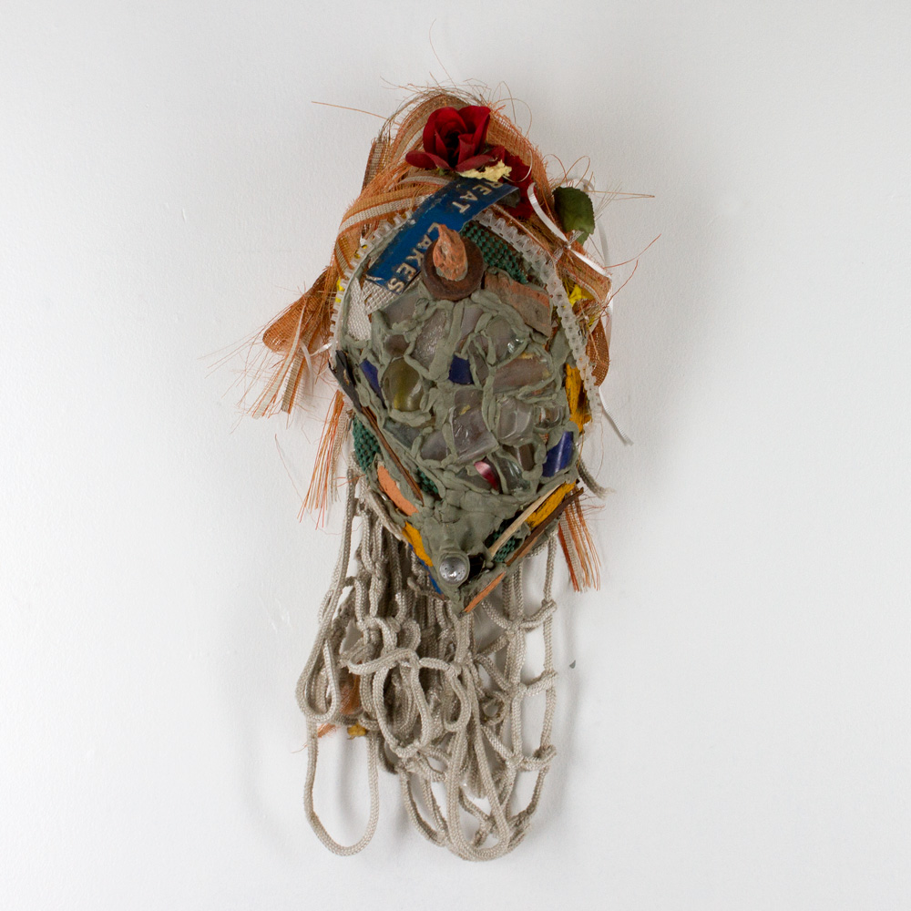 "Hollow House Mask 20"" x 7"" x 4"" Mixed Media $2,700"