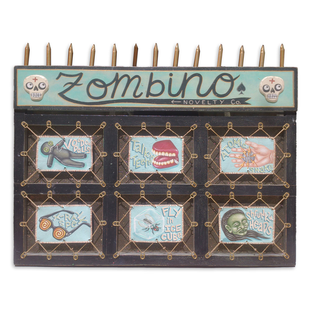 "Zambino Novelty 30.25"" x 28"" Mixed Media SOLD"